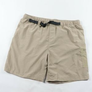 The North Face Spell Out Lined Hiking Shorts Tan